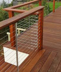 feeney cable rail for wood deck railing with quick connect surface redwood deck railing
