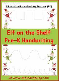 Elf on the Shelf Christmas Handwriting Worksheets for Kids ...