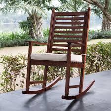 simple wooden rocking chair cushions ideas