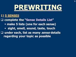 descriptive essay assignment  to describe a campus object  5 5 1 5 senses