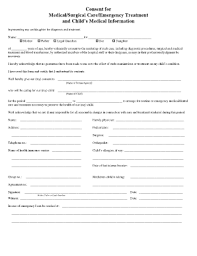 Medical Release Form For Grandparents 27 Printable Caregiver Consent Form For Medical Treatment Templates