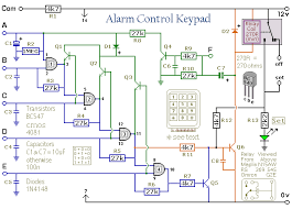 how to build a keypad a digit security code circuit diagram of an alarm control keypad