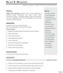 8 Internship Resume Template Lease Summer Intern Janedoere ~ Sevte
