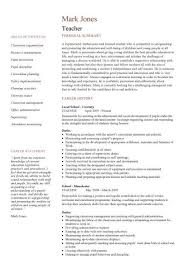 Resume Template Teacher Simple Teacher CV Template Lessons Pupils Teaching Job School Coursework