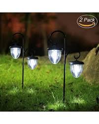 solar patio lights. Maggift Hanging Solar Lights Outdoor With Double Shepherd Hook  Landscape Garden For Solar Patio Lights