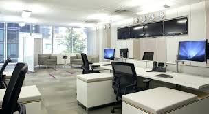 color art office interiors. Astounding Interior Design Awesome Office Ideas With Beautiful Purple And Corporate Color Yellow Grey Tech Duke Decorating Art Interiors E