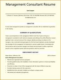 5 Consultant Resume Templates Samples Examples Format