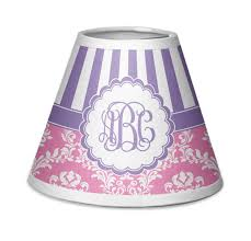 pink purple damask chandelier lamp shade personalized