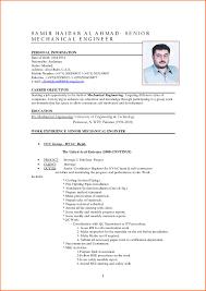 Sample Resume For Mechanical Engineer Experienced Pdf Elegant