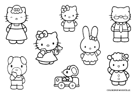 Hello Kitty Family Coloring Pages Printable Coloring Page For Kids