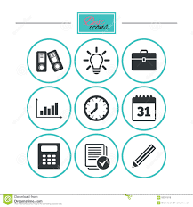Statistics Symbols Chart Office Documents And Business Icons Stock Vector