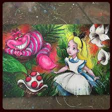 alice in wonderland painting by shane grammer here s my finished mixed a painting on canvas