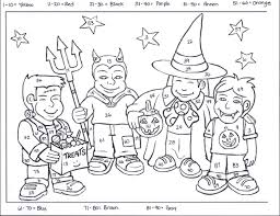 Small Picture Halloween Coloring Pages For 3rd Graders Images About
