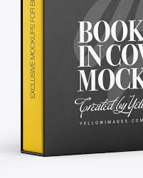 It is free, it is easy. Hardcover Book In Paper Cover Mockup In Stationery Mockups On Yellow Images Object Mockups