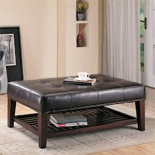 bowery hill faux leather coffee table