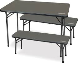 picture of coleman folding table bench set