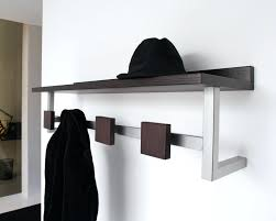 office coat hook. Office Wall Coat Rack Modern Using Chrome Metal And Brown Wooden Shelf Hanger As Well Large Mounted Also Hook E