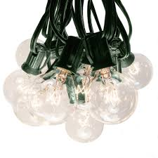 Buy Globe Lights 50 Foot G40 Globe Patio String Lights With Clear Bulbs Green Wire By Hometown Evolution Inc