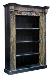 Classic home furniture reclaimed wood Bedroom Furniture Hand Carved Bookshelf Zin Home Zin Home Hand Carved Bookshelf Ecofriendly Bookcase Reclaimed