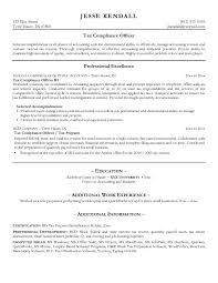 compliance officer resume ...