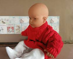 Baby Knit Clothes Red Cable Knit Baby Jumper Jackets