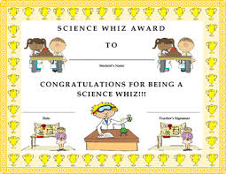 Kids Award Certificate Science Whiz Award Certificate Kids Will Love It By Twin Business
