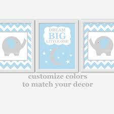 baby boy nursery wall art blue gray elephant dream big boy room wall decor nursery elephant