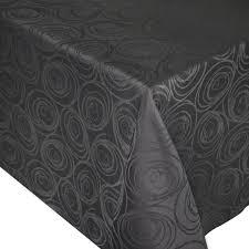 Nappe carrée 150x150 cm Jacquard 100% coton SPIRALE anthracite Autre ...