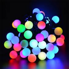 solar outdoor string lights 30 led waterproof ball lamps solar powered starry fairy light for garden yard home parties xsolar net