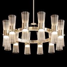 modern gold leaf murano glass chandelier