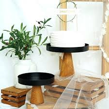 high feet wood cake stands ornament storage rack wedding tools pedestal stand 18 inch marble and wood cake stands