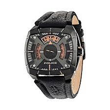 police watches men debenhams police men s multifunction strap watch 14796jsu 02