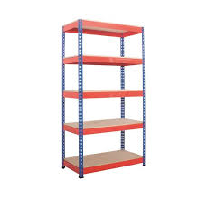 picture of heavy duty rivet racking with 5 shelves