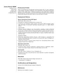 Intelligence Officer Resume Example Best Of Business Analyst Resume Sample James Bond