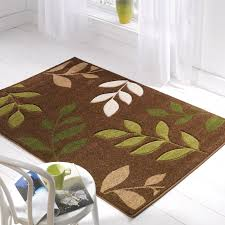 stunning brown kitchen rugs green cream and brown kitchens manor brown green cream leaf rug