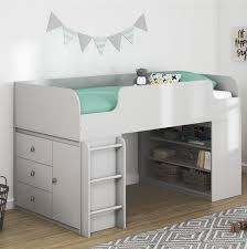 Mack & Milo Amak Panel Twin Bed with Bookcase and Storage Organizer ...