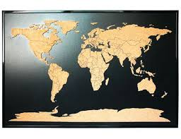 Framed World Map With Push Pins I Want Listing World Push Pin Travel