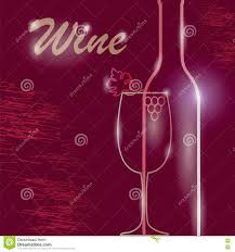Light Burgundy Wine Wine Burgundy Menu Stock Vector Illustration Of Drink