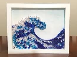 Specially designed art for u i $45.00 cad. Quilled Paper Art 11 9 The Wave Nursery Decor Original Handmade Wall Art Wedding Gifts Birthday Gift Ideas Fairoozan Art