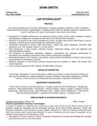 Lab Technician Resume Objective Med Tech Resume Med Tech Resume