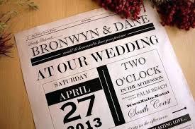 Wedding Invitation Newspaper Template Newspaper Invitation Template Lapos Co