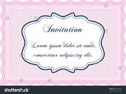 Formal Invitation Template Formal Invitation Template Border Framecomplex Background Stock 20