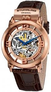 • the world s catalog of ideas stuhrling original 165f 334k14 classic winchester general automatic skeleton watch for men
