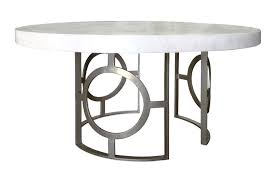 contemporary dining table concrete wrought iron round chanelle center