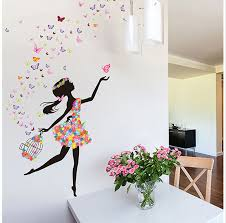 Wallpaper Design Home Decoration Butterfly Girl Diy Wallpaper For Kids Rooms Sofa Bedroom House 67