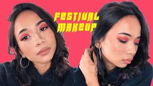 ultra festival makeup look bindi freckles tutorial shahf s
