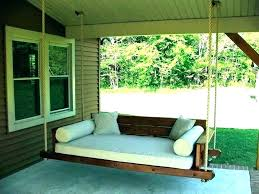 hanging swing beds porch hanging swing image hanging daybed swing plans hanging swing beds