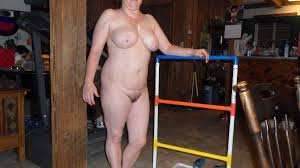 Wife naked for bet