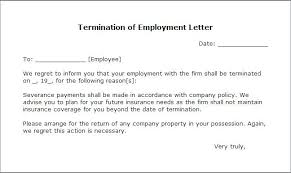 Example Letter Of Termination Sample Letter For Termination Just Cause Name Of Manager