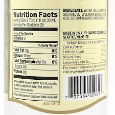 recipe torani syrup nutrition facts 20